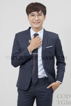 Vest xanh sọc vuông TG167