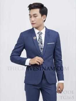 Vest xanh đậm caro TG165